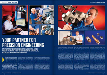 Parker Precision in Manufacturing and Engineering Magazine